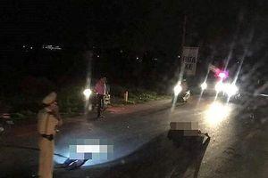 Trung tá cảnh sát giao thông ở Nghệ An bị xe máy đâm trong đêm