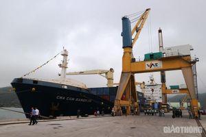 Chuyến tàu container quốc tế đầu tiên cập cảng Nghi Sơn