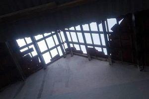 Quảng Ngãi: Dông, lốc xoáy gây thiệt hại nhiều tài sản của người dân