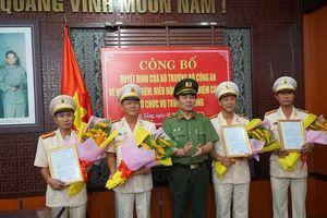 Bổ nhiệm 4 trưởng phòng thuộc Công an TP Đà Nẵng
