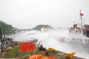 Diễn tập ứng phó sự cố tràn dầu tại Kho xăng dầu 661