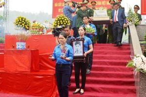 Hà Tĩnh: Truy điệu và an táng hài cốt liệt sỹ hy sinh tại chiến trường Lào