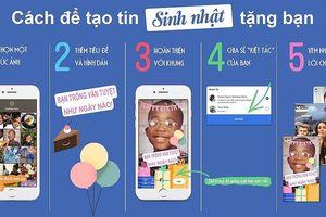 Facebook lại ra tính năng mới: Tin sinh nhật - Birthday Stories