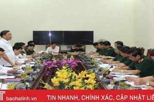Hà Tĩnh tiếp tục thực hiện tốt nhiệm vụ quân sự - quốc phòng địa phương