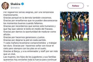 Shakira viết tâm thư gửi fan Barca: 'Chúng ta cũng chỉ là con người…'