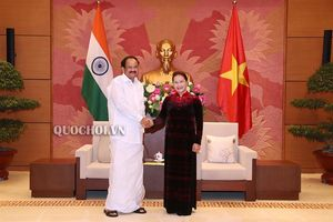 Chủ tịch Quốc hội Nguyễn Thị Kim Ngân Hội kiến Phó Tổng thống, Chủ tịch Thượng viện Ấn Độ Venkaiah Naidu