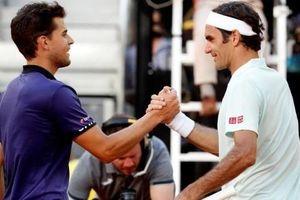 Dominic Thiem cản bước Roger Federer ở tứ kết Madrid Open