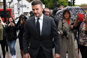 David Beckham bị cấm lái xe trong nửa năm vì phạm luật