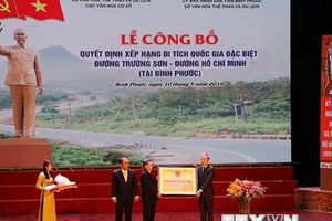 Công bố di tích quốc gia đặc biệt Đường Trường Sơn tại Bình Phước