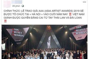 Cư dân mạng phản ứng thế nào trước thông tin Việt Nam chính thức đăng cai tổ chức Asia Artist Awards 2019 tại Hà Nội?
