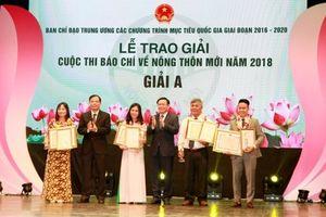 39 tác phẩm đoạt giải Cuộc thi báo chí về nông thôn mới 2018
