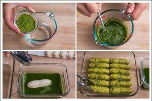 Cuối tuần mát mẻ, vào ngay bếp làm bánh Tiramisu trà xanh thơm ngon