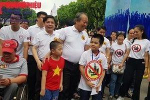 Hà Nội: Hàng chục nghìn người đi bộ kêu gọi hành động 'Đã uống rượu bia không lái xe'