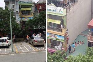 Hà Nội: Cháy trường mầm non 4 tầng, các cháu nhỏ trèo qua mái nhà, leo thang để di chuyển