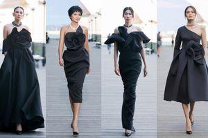 H'Hen Niê, Minh Tú, Hoàng Yến diện váy phom 3D ấn tượng trên sàn diễn 'Back to Nature'