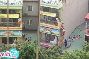 Cháy cơ sở mầm non tại Hà Nội, người dân phá cửa sắt giải cứu các bé như phim hành động