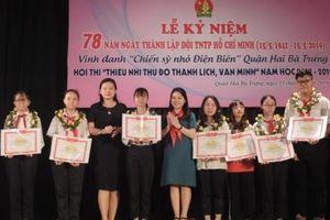 Vinh danh 15 'Chiến sĩ nhỏ Điện Biên' tiêu biểu quận Hai Bà Trưng