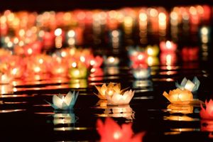 4 vạn ngọn hoa đăng thắp sáng cầu nguyện hòa bình ở chùa Tam Chúc