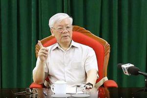 Tổng Bí thư, Chủ tịch nước Nguyễn Phú Trọng chủ trì họp lãnh đạo chủ chốt