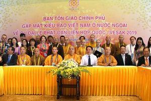 Chính phủ luôn quan tâm đến đời sống sinh hoạt tâm linh của phật tử Việt Nam ở nước ngoài