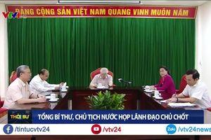 Tổng Bí thư, Chủ tịch nước Nguyễn Phú Trọng phát biểu tại cuộc họp lãnh đạo chủ chốt