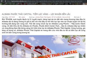 Đồng Nai cảnh báo về dự án bất động sản 'ma' của công ty Alibaba