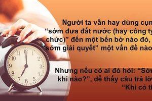 Khi thời gian co giãn…