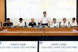 Tập thể UBND thành phố Hà Nội họp phiên tháng 5