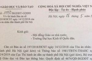 Bộ Giáo dục tiến hành khôi phục học hàm, học vị của ông Hoàng Xuân Quế