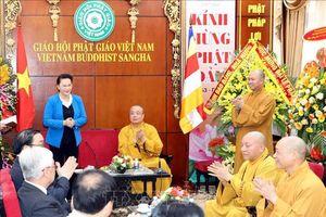Chủ tịch Quốc hội thăm, chúc mừng Hội đồng Trị sự Trung ương Giáo hội Phật giáo Việt Nam