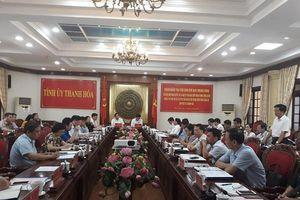 Đoàn công tác của Trung ương làm việc với Tỉnh ủy Thanh Hóa