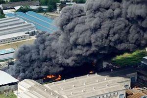 Nhà máy xử lý phế liệu tại Nhật Bản bùng cháy dữ dội