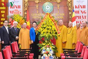 Chủ tịch Quốc hội thăm, chúc mừng Giáo hội Phật Giáo Việt Nam