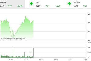 Phiên sáng 15/5: Dòng tiền chảy mạnh, VN-Index vượt mốc 970 điểm