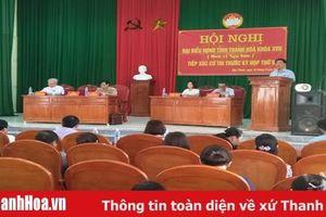 Đại biểu HĐND tỉnh tiếp xúc cử tri huyện Nga Sơn