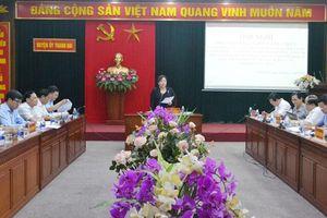 Đoàn kiểm tra số 2 của Thành ủy kiểm tra tại huyện Thanh Oai