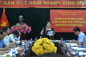 Phó Bí thư Thành ủy: Ba Đình cần huy động nhiều hơn đóng góp của doanh nghiệp, người dân