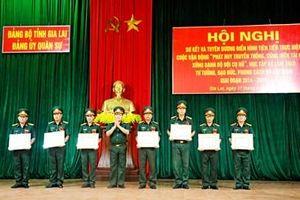 Đảng ủy Quân sự tỉnh Gia Lai sơ kết Cuộc vận động 'Phát huy truyền thống, cống hiến tài năng, xứng danh Bộ đội Cụ Hồ'