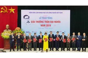 4 công trình khoa học nhận giải thưởng Trần Đại Nghĩa năm 2019