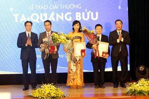 Ba nhà khoa học nhận Giải thưởng Tạ Quang Bửu 2019