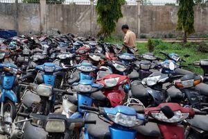 Hơn 2000 xe máy không ai nhận, CSGT TP.HCM buộc phải bán sắt vụn