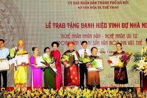 Hà Nội: 44 nghệ nhân được nhận danh hiệu Nghệ nhân nhân dân, Nghệ nhân ưu tú 2019