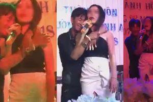 Clip nữ ca sĩ bị gã đàn ông sàm sỡ khi hát đám cưới
