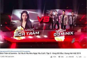 Tiết mục Đối đầu 'triệu view' đầu tiên của The Voice 2019 gọi tên trò cưng team Thanh Hà - DOMINIX ft Bích Trâm