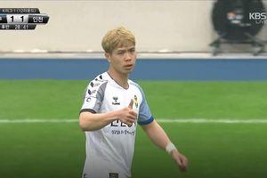 Daegu – Incheon 2-1: Không được đồng đội hỗ trợ tấn công, Công Phượng lùi về tích cực phòng ngự