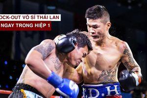 Trương Đình Hoàng hạ knock-out võ sĩ Thái Lan ngay hiệp 1