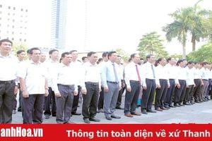 Đoàn đại biểu Tỉnh ủy, HĐND, UBND, Ủy ban MTTQ tỉnh dâng hương tưởng niệm Chủ tịch Hồ Chí Minh