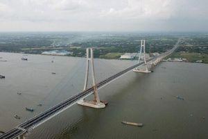 Thông xe cầu Vàm Cống, cầu dây văng thứ 2 vượt sông Hậu