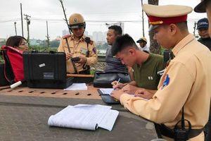 Công an Hà Nội tập trung xử lý lái xe vi phạm về nồng độ cồn, ma túy