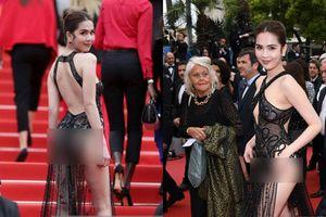 Phản cảm loạt váy 'mặc như không' của sao Việt tại LHP Cannes